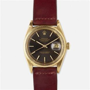 Rolex, 'Oyster Perpetual Datejust' gold watch, Ref.
