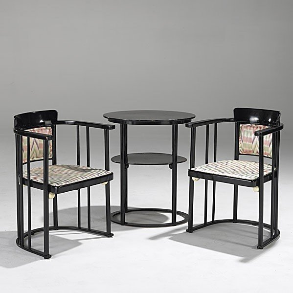 7: JOSEF HOFFMAN; J. & J. KOHN; Chairs and table