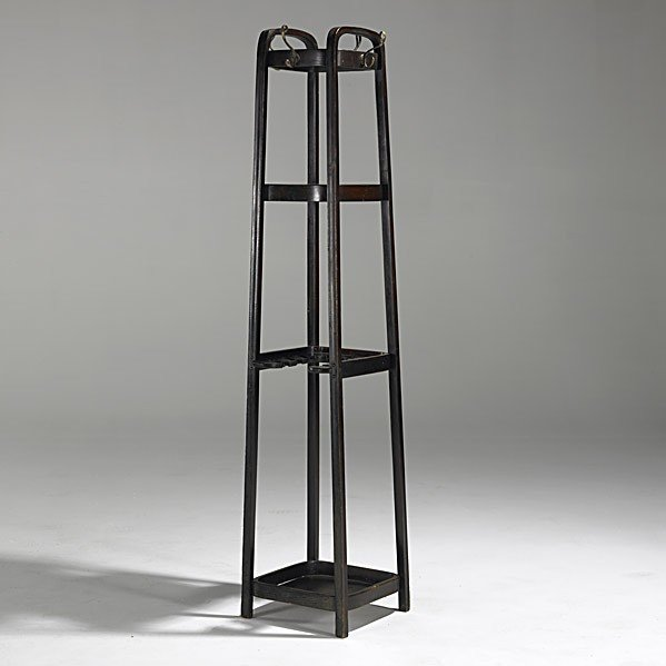 8: J. & J. KOHN; Bent coat rack and umbrella stand
