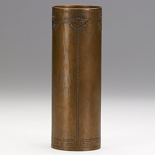 13: KARL KIPP; Hammered copper vase