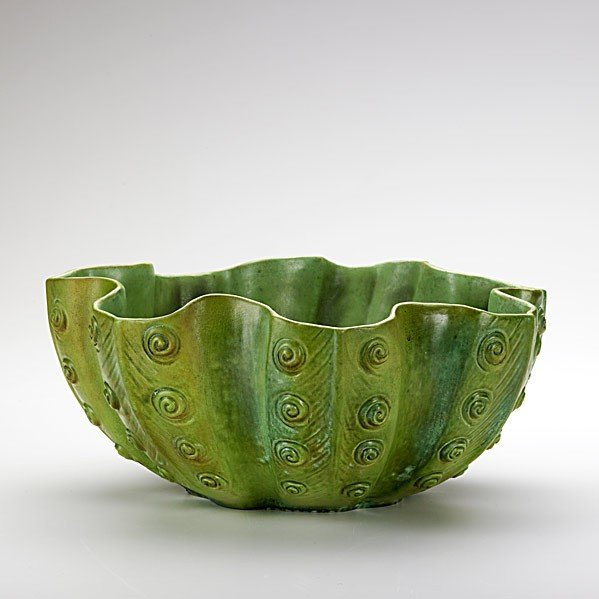 463: TIFFANY STUDIOS; Extremely rare, large fern bowl