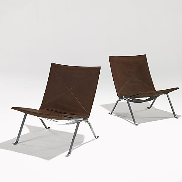 601: POUL KJAERHOLM; E. KOLD CHRISTENSEN; 2 chairs