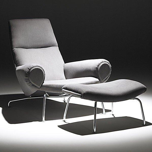 608: HANS WEGNER; JOHANNES HANSEN; Chair and ottoman