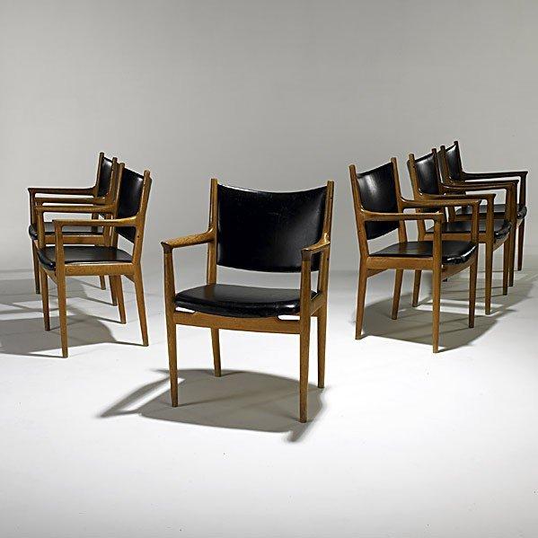 612: HANS WEGNER; JOHANNES HANSEN; Six armchairs