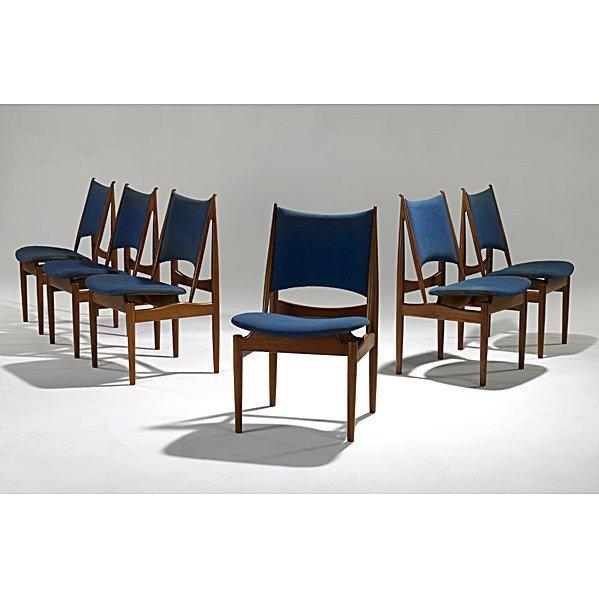 617: FINN JUHL; NIELS VODDER; Set of six dining chairs