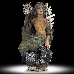 865: WAYLANDE GREGORY; Important sculpture, ''Earth''