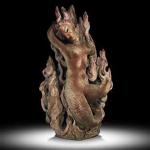 866: WAYLANDE GREGORY; Important sculpture, ''Fire''