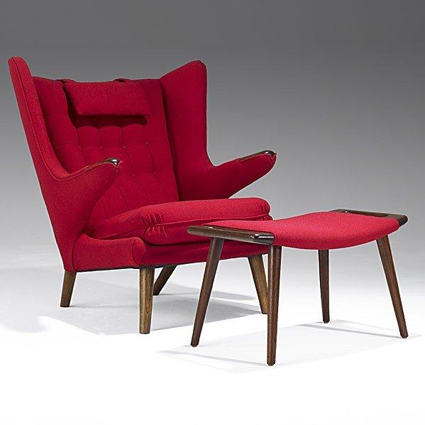 1004: HANS WEGNER; A.P. STOLEN; Papa bear chair