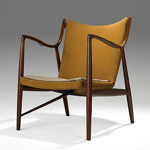 1014: FINN JUHL; NIELS VODDER; Teak No. 45 Easy Chair