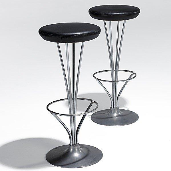 1017: PIET HEIN; FRITZ HANSEN; Bar stools