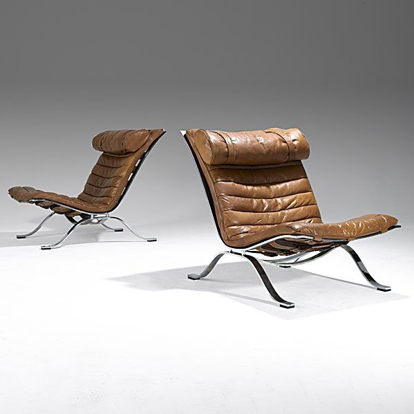 1018: ARNE NOREL; ANEBY; Pair of lounge chairs