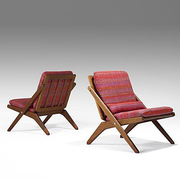 1023: HOVMAND OLSEN; JUTEX; Pair of chairs