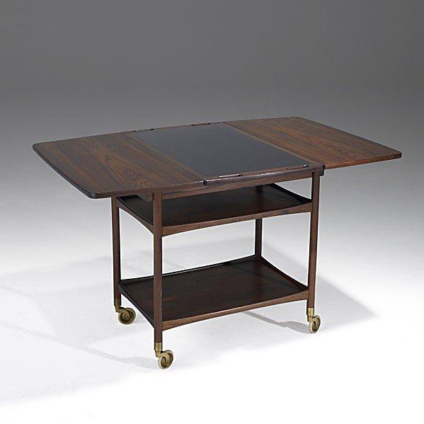 1027: LUDWIG PONTOPPIDAN; Rosewood serving cart