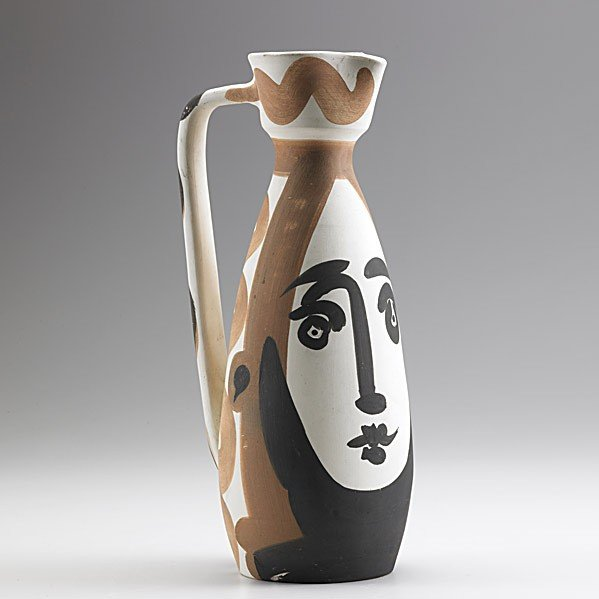 1137: PICASSO; MADOURA; Bisque-fired pitcher