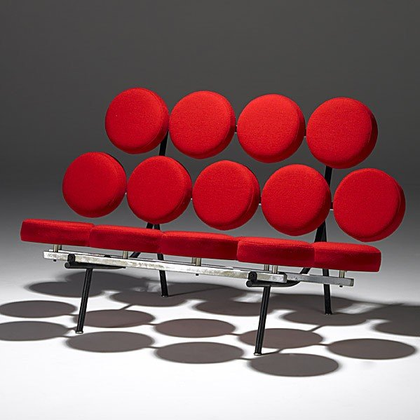 1318: GEORGE NELSON; HERMAN MILLER; Marshmallow sofa