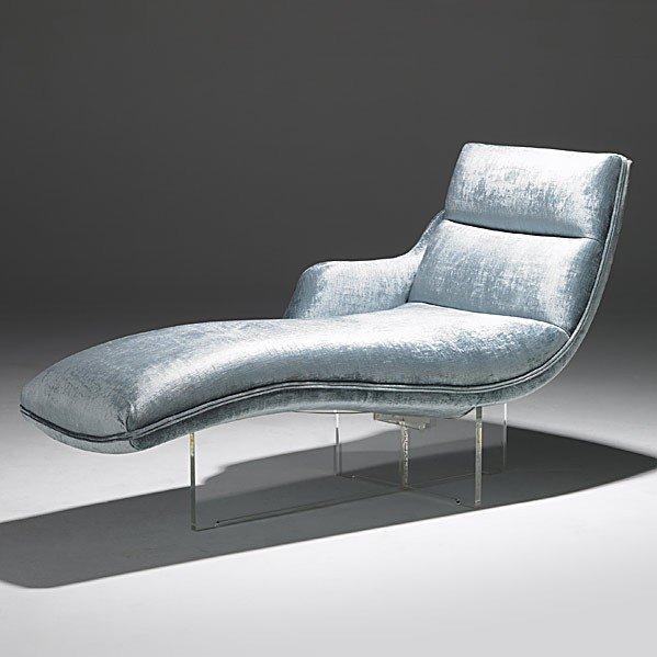 1425: VLADIMIR KAGAN; Erica chaise lounge