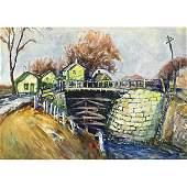 90: Walter Emerson Baum (American, 1884-1956) Canal Lo