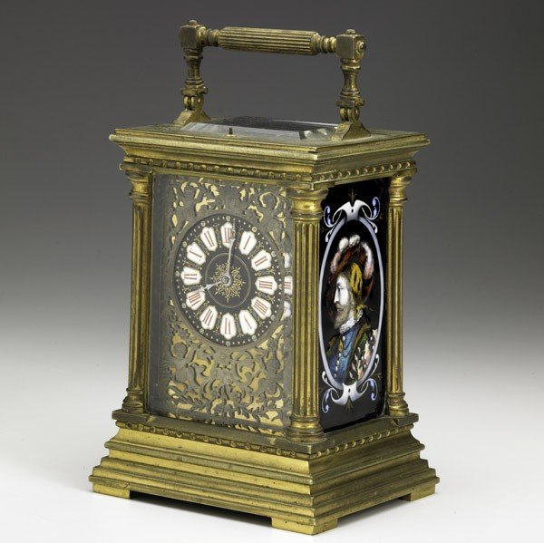2: FRENCH REPEATER CARRIAGE CLOCK