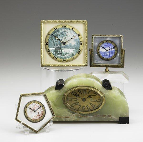 5: SWISS ENAMEL DRESSER CLOCKS