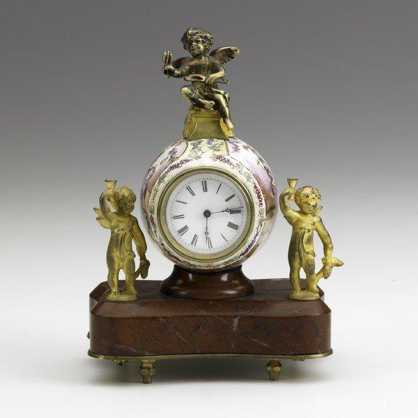 13: VIENNESE ENAMEL TABLE CLOCK