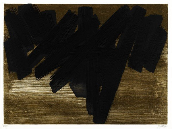 566: Pierre Soulages (French, b. 1919) Eau-forte no 5 (