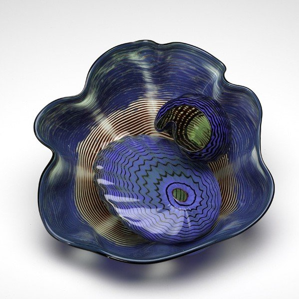 575: DALE CHIHULY; Three-piece Seaform set