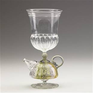 613: RICHARD MARQUIS; Glass ''Teapot Goblet,''