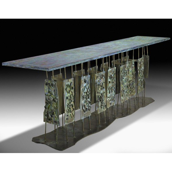 1000: PHILIP AND KELVIN LaVERNE; Console table