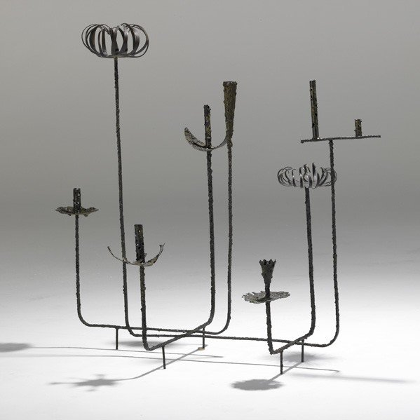 1012: PAUL EVANS; Eight-arm sculpture
