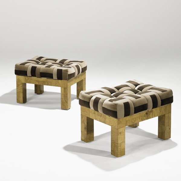 1014: PAUL EVANS; DIRECTIONAL; Pair of benches