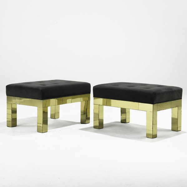 1015: PAUL EVANS; DIRECTIONAL; Pair of benches