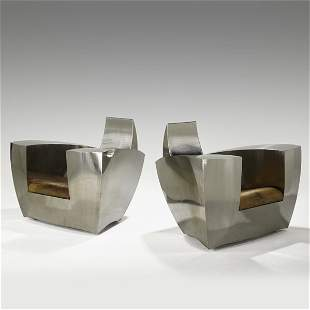 1551: JONATHAN SINGLETON; Pair of chairs