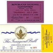 EISENHOWER/NIXON 1957 INAUGURAL MEMORABILIA