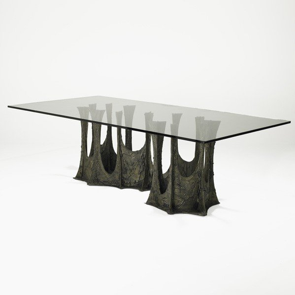 509: PAUL EVANS; Sculpted Bronze dining table