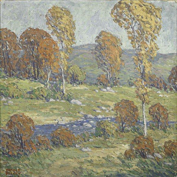 598: DONALD DESKEY: Oil painting