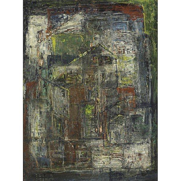600: DONALD DESKEY: Three oil paintings