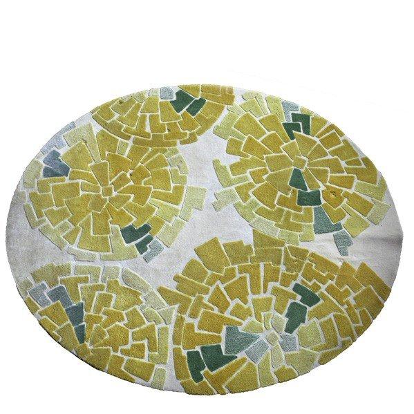 606: EDWARD FIELDS; Textured cut wool oval carpet
