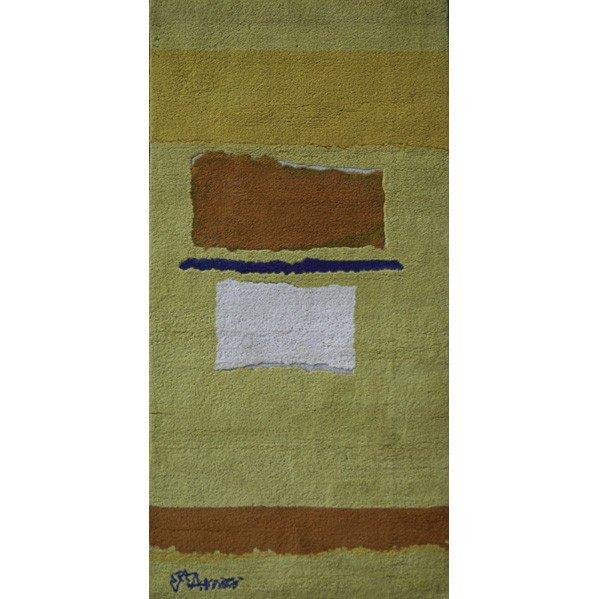 607: THEODOROS STAMOS; Cut wool tapestry