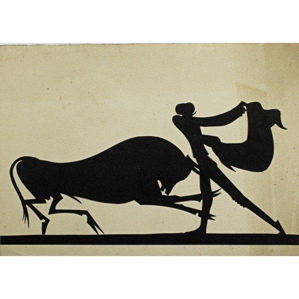 610: WILLIAM HUNT DIEDERICH; Cut paper silhouette