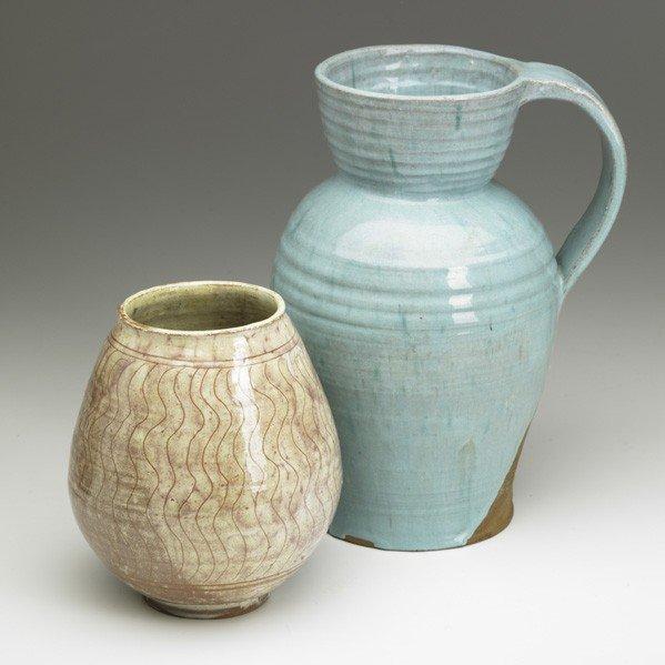 613: HENRY VARNUM POOR; Vase and pitcher