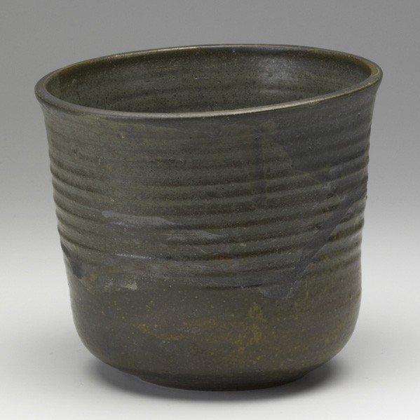 620: TOSHIKO TAKAEZU; Glazed stoneware vessel