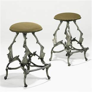 800: ARTHUR COURT; Pair of bar stools