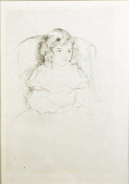 3: Mary Cassatt (American, 1844-1926) Sara Smiling, c