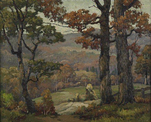 13: George Jensen (American, 1878-1977) Untitled (Autu