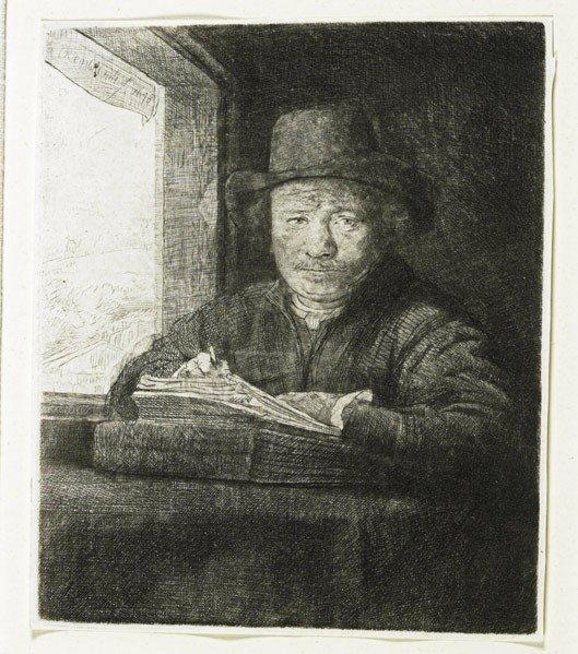 17: Rembrandt van Rijn (Dutch, 1606-1669) Self Portrai
