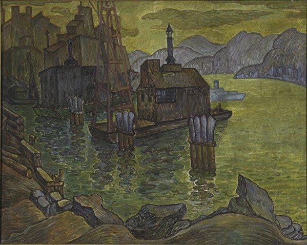 25: Joseph Lomoff (American, 1889-1956) Hudson River