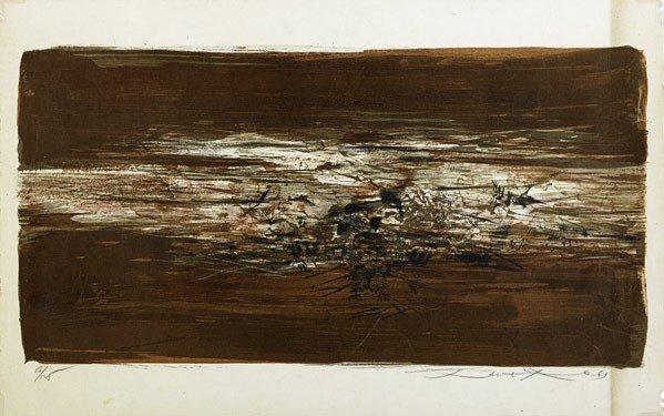 502: Zao Wou-Ki (Chinese, b. 1921) Untitled, 1963