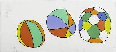 684: Donald Baechler (American, b. 1956) Three works of