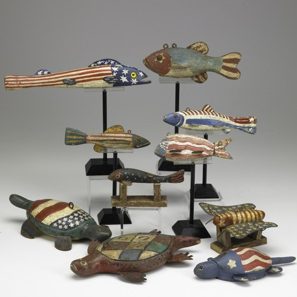 517: PATRIOTIC FISH DECOYS
