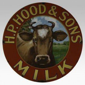 524: H.P. HOOD & SONS MILK SIGN